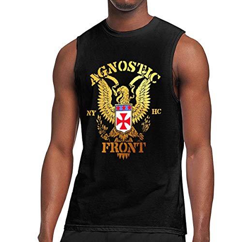 WLQP Camiseta sin Mangas para Hombre Agnostic Front T Shirts Men