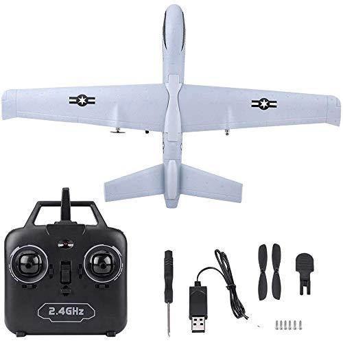 KRCT 66cm große Fernbedienung Flugzeug hohe Simulations-Predator-Drohne Modell Professionelle 2,4 GHz 2-Kanal-Fernsteuerung Flugzeug-Spielzeug mit Akku Anti-Fallen EPP