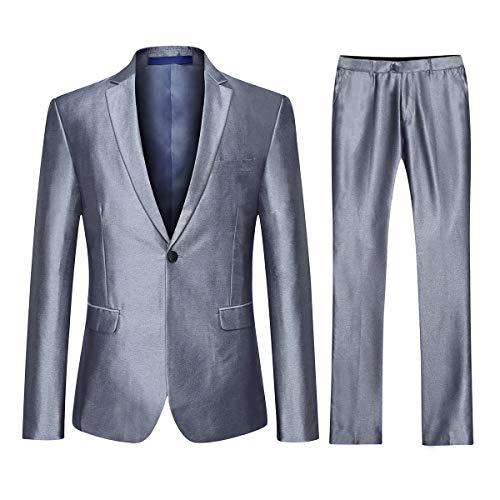 Heren Pak Slim Fit 3 Stuks Pak voor Bruiloft Klassieke Prom Blazer Jassen Waistcoat & Broeken