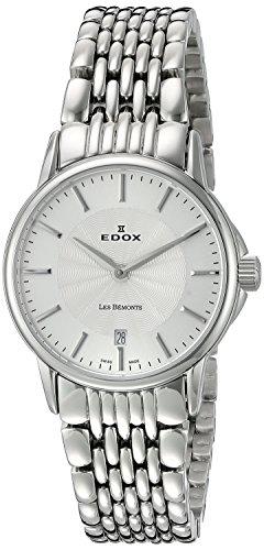 EDOX Reloj analógico para Mujer de Cuarzo con Correa en Acero Inoxidable 57001 3M AIN