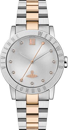 Vivienne Westwood Warwick Ladies Quartz Watch with Silver Dial & Two Tone Stainless Steel Bracelet.