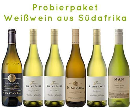 6 er Probierpaket | Weißwein aus Südafrika | trocken | 6 x 0,75 L.