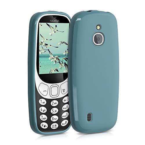 kwmobile Funda Compatible con Nokia 3310 3G 2017 / 4G 2018 - Funda Carcasa de TPU Silicona - Protector Trasero en petróleo Mate