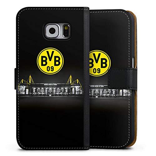 DeinDesign Tasche kompatibel mit Samsung Galaxy S6 Leder Flip Case Ledertasche BVB Stadion Borussia Dortmund