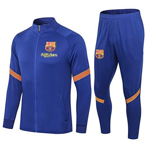 Bǎrcělǒnǎ Chaqueta de fútbol Pantalones Pantalones Set de chándal de fútbol Jersey Formación de Entrenamiento, 2021 Estilo Soft Casual Personalidad, Ventil S
