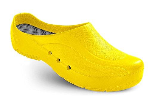 Schürr ORTHOClogs OP-Schuh mit und ohne Fersenriemen Unisex, Gelb, 44