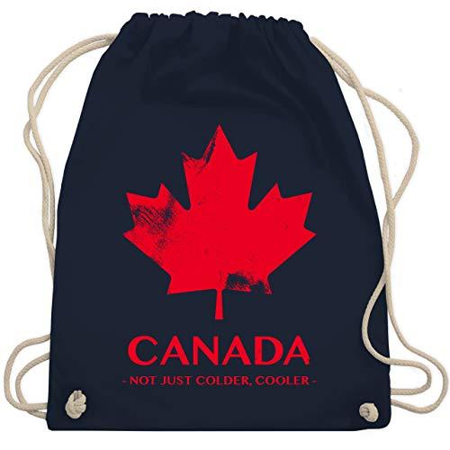 Shirtracer Länder - Canada Vintage Not just colder cooler - Unisize - Navy Blau - kanada tasche - WM110 - Turnbeutel und Stoffbeutel aus Baumwolle