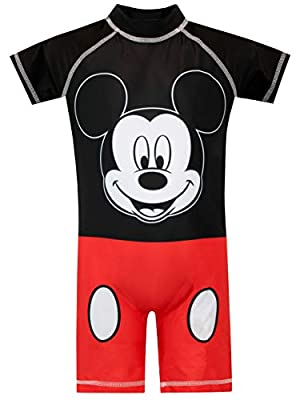 Disney Boys' Mickey Mouse Swimsuit Size 18M Red