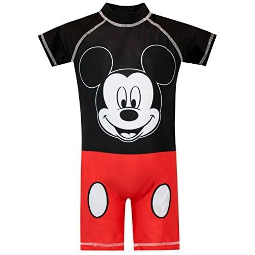 Disney Costume da Bagno per Ragazzi Mickey Mouse Rosso 3-6 Mesi