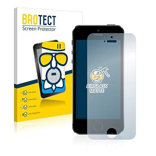 brotect Pellicola Vetro Opaca Compatibile con iPhone 5   5S   5C   SE 2016 Protezione Schermo Anti-Riflesso Durezza 9H, AirGlass