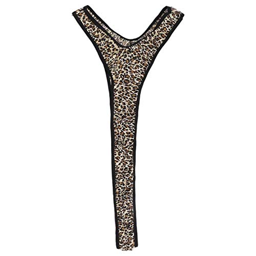 CARRYKT Männer Sexy Homosexuell Hosenträger Unterwäsche Halter Mankini Tanga Einfarbig Leopard Singlet Trikot Body Dessous Kostüm Badebekleidung