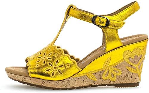 Gabor Mujer Sandalias de cuña, señora Zapatos del Verano,cómodo,Plana