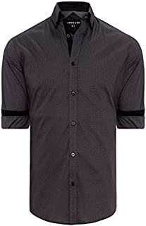 Tarocash Men's Geometric Print Shirt Cotton Regular Fit Long Sleeve Sizes XS-5XL for Going Out Smart Occasionwear