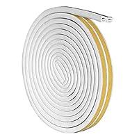 maniry 隙間テープ 窓 ドアシールストリップ スキ用テープ 埋める 気密 窓 ドア 隙間 防音 防風 騒音防止 ホワイト D型 (6m )