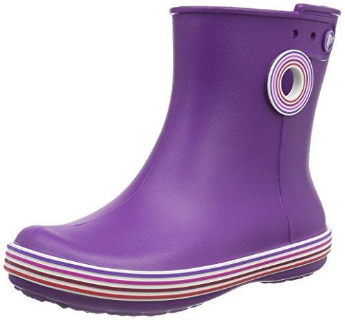 Crocs Jaunt Graphic Shorty, Damen Kalt gefüttert Gummistiefel Kurzschaft Stiefel & Stiefeletten, Violett (Amethyst/Royal Purple 5G4), 36/37 EU
