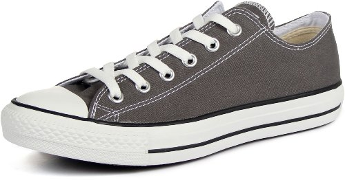 Converse Unisex Chuck Taylor All Star Ox Low Top Classic Charcoal Sneakers - 5.5 Men 7.5 Women