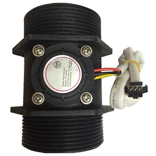 CCH-DZLJQ, 1 UNID DN50 Pasillo Hall Turbina Medidor de Flujo de Agua Sensor de Flujo de 2 Pulgadas 5-250L / min (Color : Black)