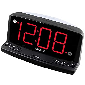 Sharp LED Digital Alarm Clock – Simple Operation - Easy to See Large Numbers Built in Night Light Loud Beep Alarm with Snooze Bright Big Red Digit Display