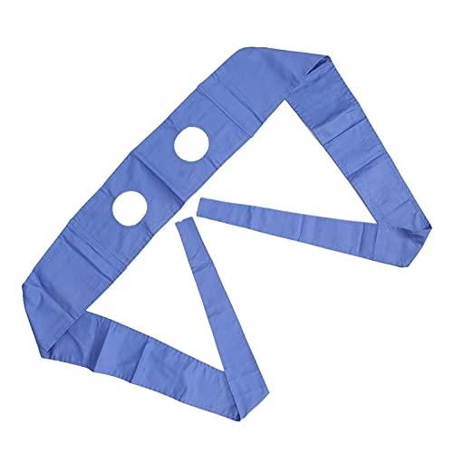 Correa de sujeción de seguridad hospitalaria con diseño de correa de ensanchamiento, correas de algodón para cinturón de silla de ruedas Cinturón de sujeción de la cama del paciente (azul)