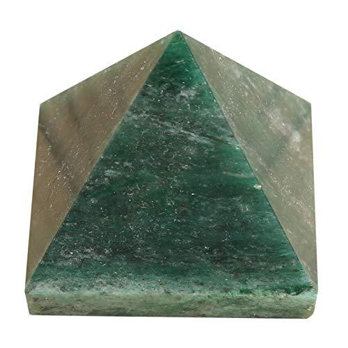CRAFTSTRIBE Green Jade Natural Gemstone Reiki Healing Pyramid Table Décor Gift 2