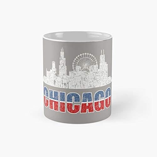 Chicago Illinois USA Vintage Vintage Grunge Taza de café con diseño de Chicago Illinois USA