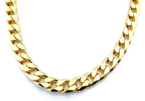 TENDENZE Collar Cadena Gourmette 18k oro doublé 13mm longitud 70cm directamente desde la fábrica italiana para mujer y hombre
