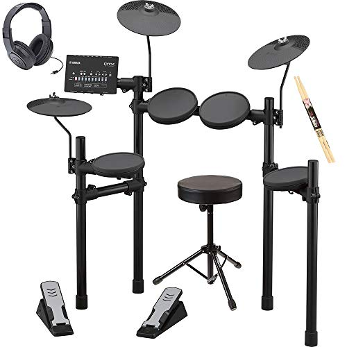 Yamaha DTX402K Electronic Drum Set with Free Drum Sticks, Stereo Headphones and Universal Drum Throne