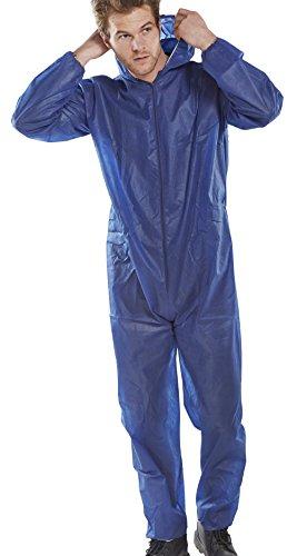Workwear World WW208monouso Blu Caldaia Tuta Protettiva con Zip, con Cappuccio, Taglie M-XXL Blue XXL