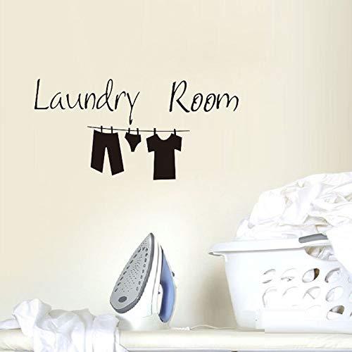 Vkjrro Pegatinas de pared para habitación de lavandería, ropa linda pegatinas de pared, diseño interesante, decoración del hogar, arte mural 45 x 22 cm