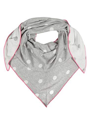 Zwillingsherz Zwillingsherz Dreieckstuch aus Baumwolle - Hochwertiger Schal mit Punkten für Damen Jungen Mädchen - Uni - XXL Hals-Tuch und Damenschal - Strick-Waren - für Herbst Frühjahr Sommer hgr/pink