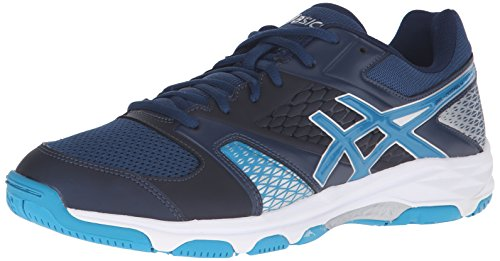 ASICS Men's Gel-Domain 4 Multi-Court Shoe, Poseidon/Blue Jewel/White, 6.5 M US