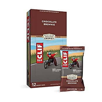 CLIF BARS - Energy Bars - Chocolate Brownie Made with Organic Oats - Plant Based Food - Vegetarian - Kosher  2.4 Ounce Protein Bars 12 Count  Packaging May Vary