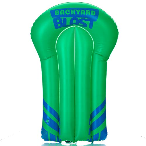 BACKYARD BLAST Rider, Inflatable Body Board Slide Rider and Pool Float Toy, Lime Green