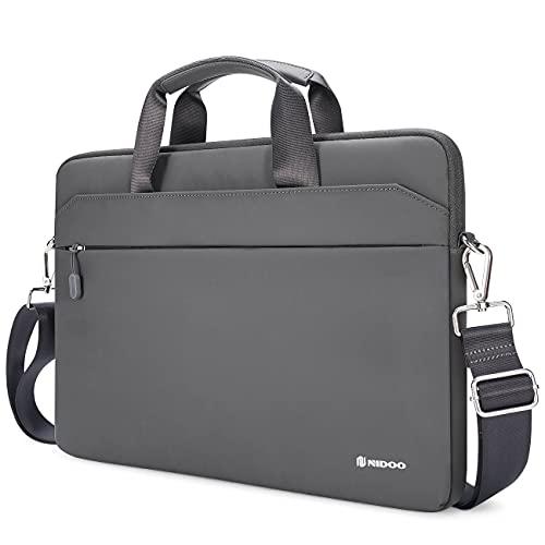 NIDOO Maletín para portátil de 14 a 15 pulgadas Thinkpad T490 T495s / Latitude 14 15 / Surface Laptop 3 4 | Book 3/15' 16' MacBook Pro / 15' IdeaPad S340 /XPS 15 /MateBook D 15, gris