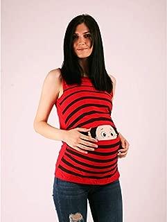 Hamile Askılı Çizgili Bakan Bebek
