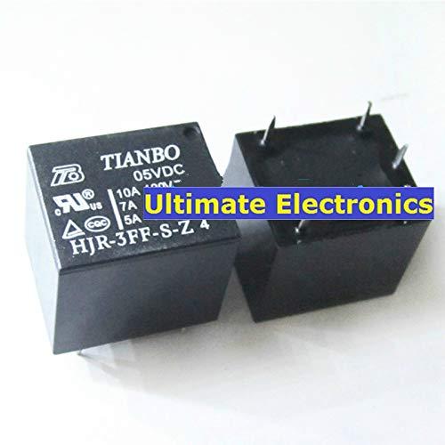 5pcs HJR-3FF-S-Z 05VDC Relay 5V 10A T73 5pin