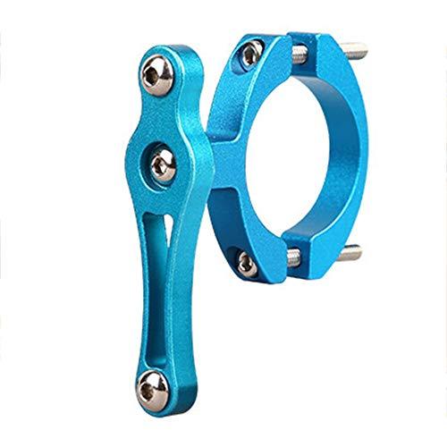 REDHONG Soporte de botella de agua para bicicleta Adaptador Tornillos dobles MTB Cup Rack Clip (azul)