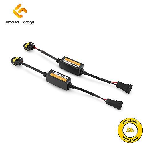 2 x Madlife Garage H8 H9 H11 LED Scheinwerfer Canbus Decoder Widerstand Fehlerfrei