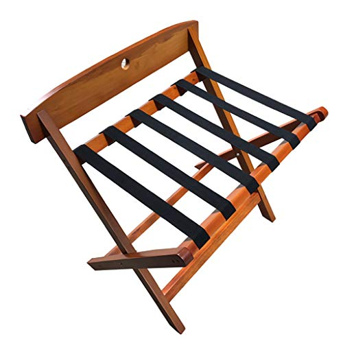 Why Choose Luggage Rack - Made of Solid Wood - Foldable/backrest Design -W64 x D43 x H61cm - for Hom...