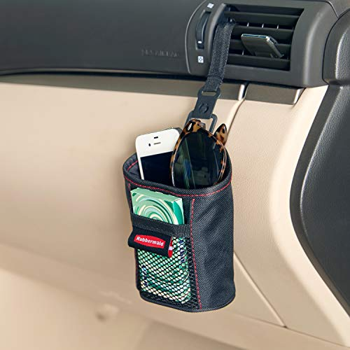 Rubbermaid Automotive Air Vent Catch All Storage Organizer: Cell Phone/Sunglasses Car Caddy, Soft Sided