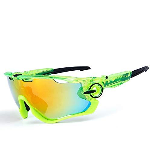 Blisfille Gafas Protectoras para Niños Gafas de Motocross Hombre,Clear Verde Negro