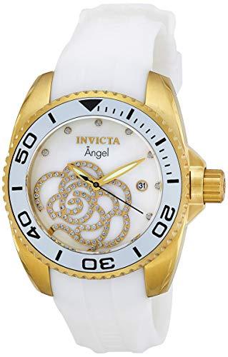 Invicta 0488 Angel Reloj para Mujer acero inoxidable Cuarzo Esfera blanco