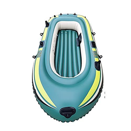HOUADDY Canoa Inflable, Deportes acuáticos para 3 Personas, Rafting, Kayak, Botes portátiles para Adultos y niños