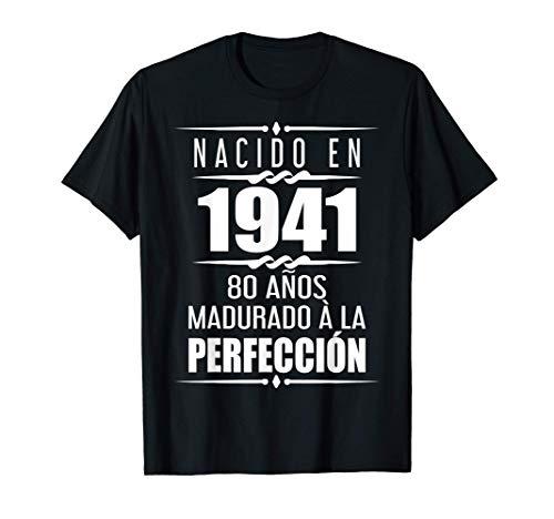 80 años Regalos Hombres Mujer 80 Cumpleaños Camiseta