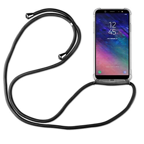betterfon | Samsung Galaxy A6 2018 Handykette Smartphone Halskette Hülle mit Band - Schnur mit Hülle zum umhängen Handyhülle mit Kordel zum Umhängen für Samsung Galaxy A6 2018 SM-A600 Schwarz