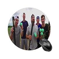 Dude Perfectラウンドマウスパッド、PC ノートパソコン オフィス用 円形 デスクマット、ズされたゲーミングマウスパッド 滑り止め 耐久性が