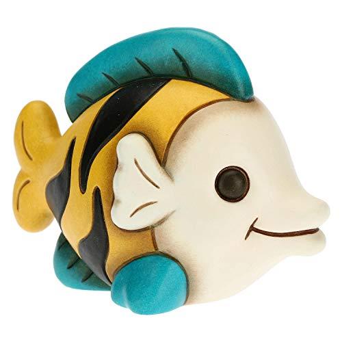 THUN - Soprammobile a Forma di Pesce Tigre - Accessori per la Casa da Collezionare - Linea Surfing Sydney - Formato Piccolo - Ceramica - 10,2 x 6,3 x 7,4 h cm