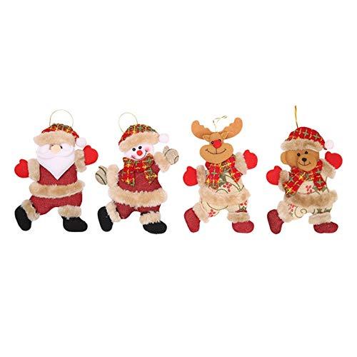 LNNUKc Accesorios de 4 Piezas Chucherías del árbol de Navidad de Navidad Colgante for la Navidad Casa Comprar Decoración Mesa Chimenea Decoración para Fiestas navideñas
