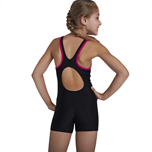 Speedo Girl's Boom Logo Splice Legsuit Swimsuit