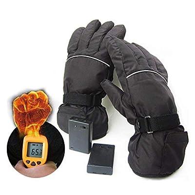 favourall 4.5V Elektrische Handschuhe, Batteriekasten Spg Versorgungsteil Ski Winddichte Baumwollheizhandschuhe Fünf Finger Übergeben Rückseitige Heizung Everyone